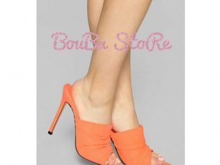 Chaussure talon orange